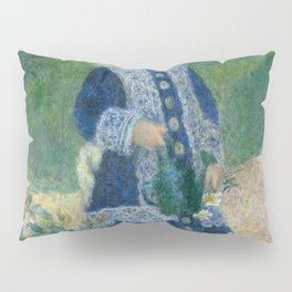 Auguste Renoir A Girl with a Watering Can 1876 Painting Pillow Sham