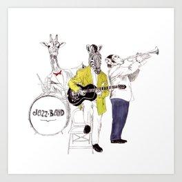 Bestial jazz-band Art Print