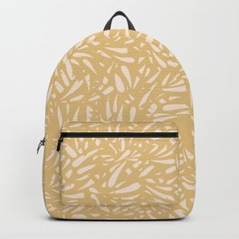 Bamboo Leaves in Light Gold / Ink Mood Backpack
