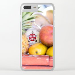 34. Havana Club and Fruits, Cuba Clear iPhone Case
