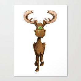 Moose Named Moe Canvas Print