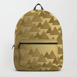 BRUSHED GOLD TRIANGLES Backpack