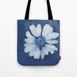 Indigo Daisy Tote Bag