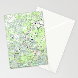 Roswell Georgia Map (1992) Stationery Cards