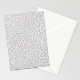 Snow Leopard Print Stationery Cards