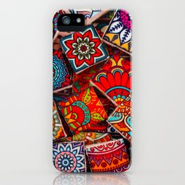 V1 Traditional Moroccan Colored Stones. iPhone Case