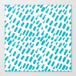 Dashing Darling - Aqua Canvas Print