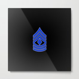 1st Sergeant (Police) Metal Print