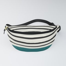 Dark Turquoise & Stripes Fanny Pack