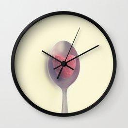 Raspberry love Wall Clock