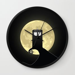 Nightmare Before A Tardis Wall Clock