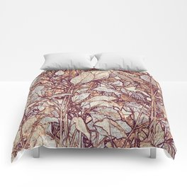 abstract camouflage leaves Comforters