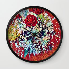 Brighten Your Day Flowers Wall Clock