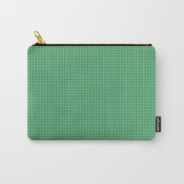 Green Grid Carry-All Pouch