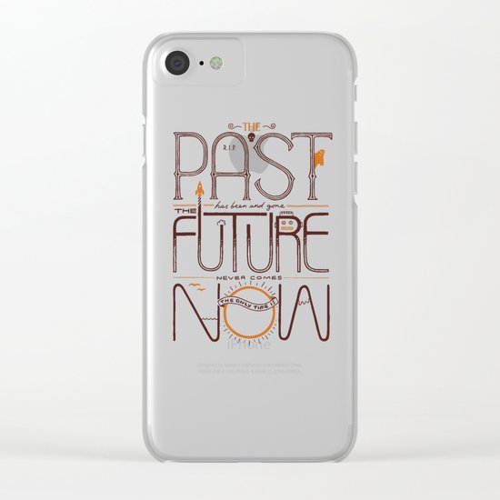 The Only Time is Now Clear iPhone Case
