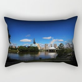 Downtown Winnipeg 3 Picture Panorama Rectangular Pillow