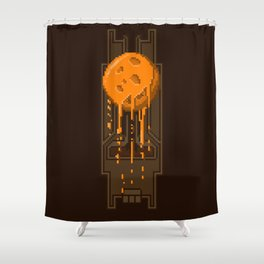 Pixel Planets : Mars Shower Curtain