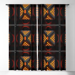 Exclusive geometric ornament with three-dimensional structural effect. Blackout Curtain
