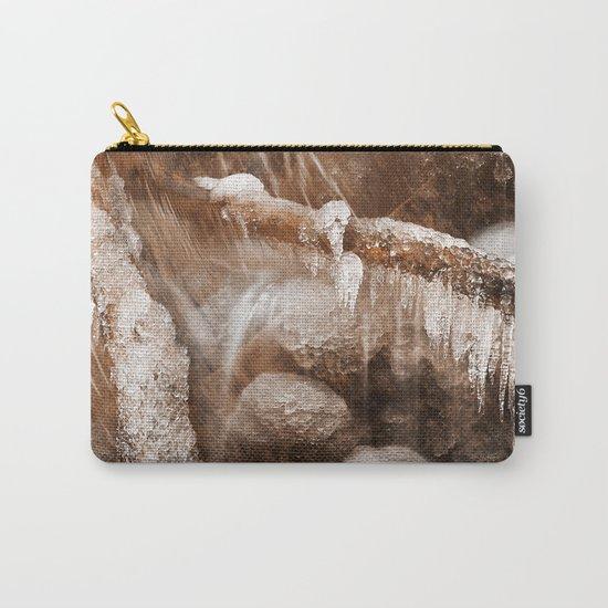 Frozen Harp Falls - Sepia Nostalgia Carry-All Pouch