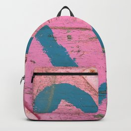 Blue heart on pink Backpack