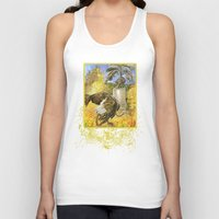 ostrich Tank Tops featuring Ostrich by Natalie Berman