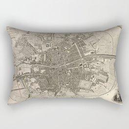 A plan of the city of Dublin - 1797 Rectangular Pillow