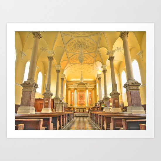 Christchurch Cathedral Interior, Waterford City, Ireland Art Print