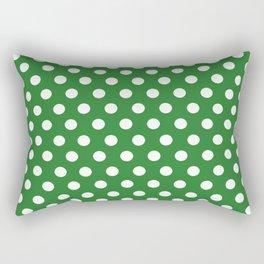 Green Dot Pattern Rectangular Pillow