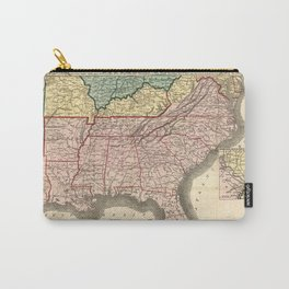 Map of the Southern States during the Civil War (1863) Carry-All Pouch