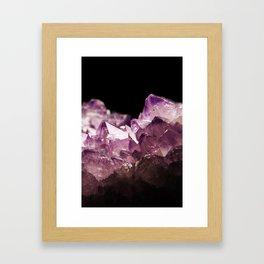 Amethyst Quartz Framed Art Print