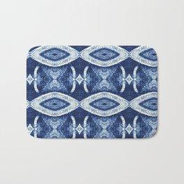 Air Plant in Blue Pattern Bath Mat