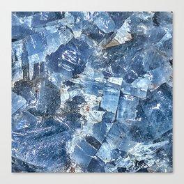 Blue Calcite Canvas Print