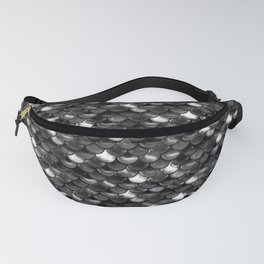 Black and White Scales Fanny Pack