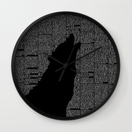 The Call of the Wild Wall Clock