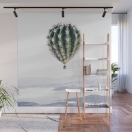 Flying Cactus Wall Mural