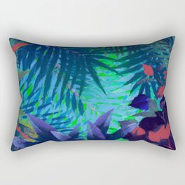 Colorful abstract palm leaves Rectangular Pillow