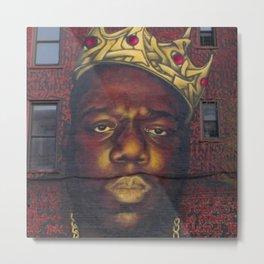 """African American 'King of New York', Bedford–Stuyvesant """"Biggie"""" Mural Photograph Metal Print"""