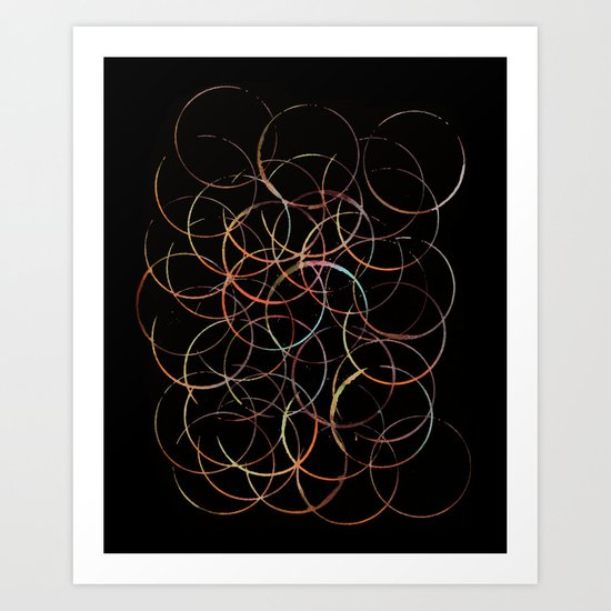 Burning Circles Art Print