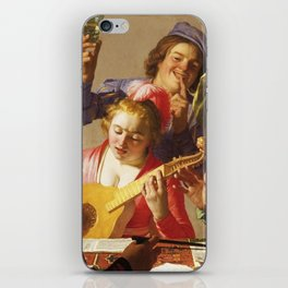 The Concert, by Gerrit van Honthorst, 1623, Dutch painting, oil on canvas. The influence of Caravagg iPhone Skin