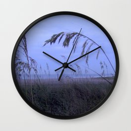Sea Oats at Fernandina Beach FL Wall Clock