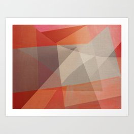 Flood Triangles Art Print