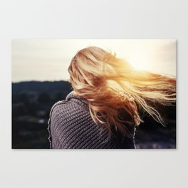 blonde girl Canvas Print