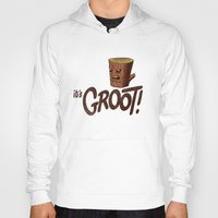groot Hoodies featuring It's Groot by Gimetzco's Damaged Goods