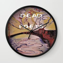 Rimbaud, Dead Poets Art Wall Clock