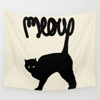 furry Wall Tapestries featuring Meow by Florent Bodart / Speakerine