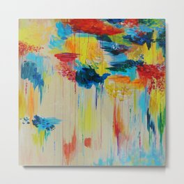 VANCOUVER RAIN - Stunning Rainbow Colorful Bold bright Rain Clouds Stormy Day Wow Abstract Painting Metal Print