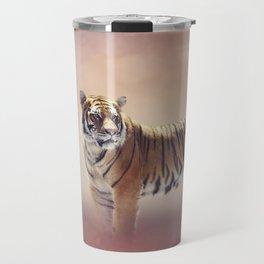 White And Brown Bengal Tigers Travel Mug