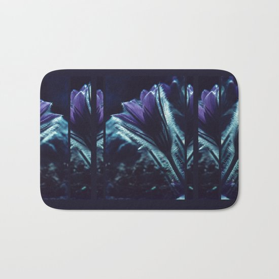 Flower in the Moonlight #2 #Purple Bath Mat