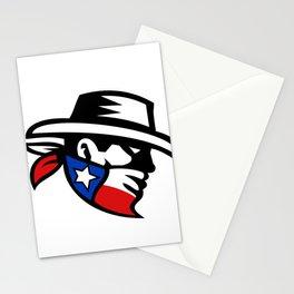 Texas Bandit Cowboy Side Retro Stationery Cards