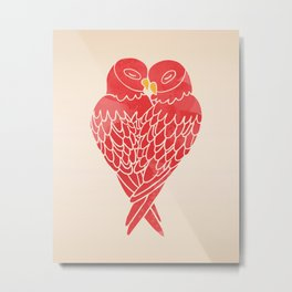Love Birds (Red) Metal Print